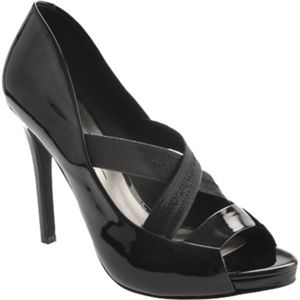 Jessica Simpson Shoes - Jessica Simpson Laqua Heels Size 8.5 Black Patent